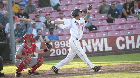 Salem-Keizer's Joe Panik leads the league with 52 RBIs and 49 runs scored.