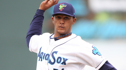 Jose Campos posted a 2.32 ERA in 14 starts for the AquaSox last year.